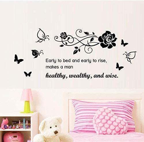 Adesivi Murali,Carta da parati floreale inglese moda può essere rimosso impermeabile inglese fai da te camera da letto murale decorativo dimensioni 34 * 57 cm
