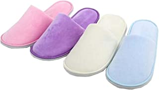 5 Pairs Of Open Toe Slippers For Spa, Party Guest, Hotel, Travel, Random Color,A