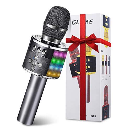 Karaoke Mikrofon bluetooth, GLIME Tragbare Drahtlose Mikrofon Stereo Player...