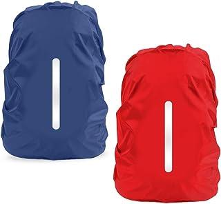 Parapioggia per Zaino, LAMA 2 Pacchi Impermeabile Outdoor Zaino Parapioggia Reflective Copri Zaino per Pioggia/Anti Polver...