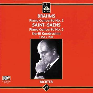 Brahms & Saint Saëns: Piano Concertos