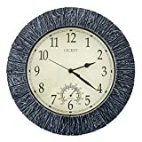 OCEST Garden Clocks Outdoor Waterproof, 13 Inch Large Retro Wall Clock Battery Operated