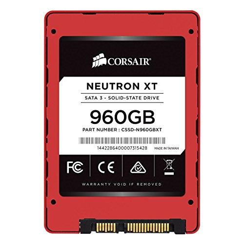 Corsair CSSD-N960GBXT Neutron XT 960 GB SATA 3 SSD (6Gb/s, Phison A19nm MLC NAND Ultra-high Performance Solid State Drive) schwarz/rot