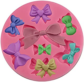 Efivs Arts 8 Mini Bows butterfly Silicone Mould Fondant Sugar edible Bow Craft Molds for Valentine's Day gifts,DIY Cake Decorating 3.5