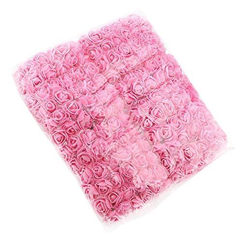 Vi.yo 144x Künstliche Blumen Rose Foamrosen Schaumrosen Schaumköpfe Brautstrauß Party Hause Dekor Rosen Rosenköpfe 2-2.5cm Pink