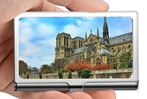 Nombre de la empresa titular de la tarjeta de cartera, París Notre Dame Francia Francia continuación del alma titular de la tarjeta de acero inoxidable