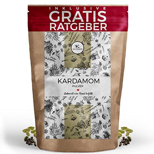 Kardamom Kardamomsamen gemahlen 100g I Grüner Cardamom aus Guatemala inkl gratis Ratgeber hochwertiges Gewürz Kardamompulver Kardamomsaat ohne Schale