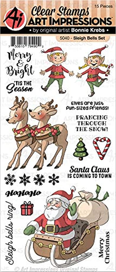 Art Impressions 5040 Christmas Clear Stamps-Sleigh Bells