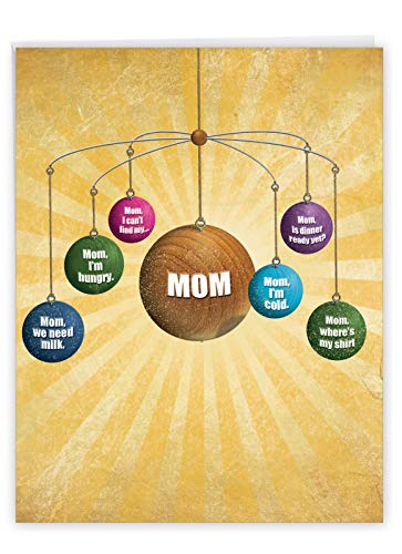 Where is Mom - Happy Mother�s Day Greeting Card with Envelope (Big 8.5 x 11 Inch) - Humorous Universe, Sun Notecard Stationery for Mom, Mother - Big, Funny Mothers Day Card J0208