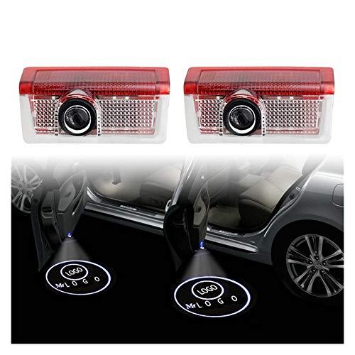 NOTRUY Autotür Willkommen Licht 2 stücke LED Autotür Welcome Licht Projektor Logo Kompatibel mit Mercedes Benz W212 W205 AMG ML W166 W176 W177 W213 W246 GLB GLC GLA GLS GLE Willkommenes Licht