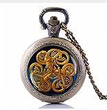Collar de reloj de bolsillo con nudo celta, joyas, collar de runa vikinga, símbolo pagano Colier Femme