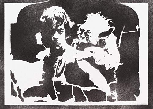 Luke Skywalker und Yoda Poster STAR WARS Plakat Handmade Graffiti Street Art - Artwork