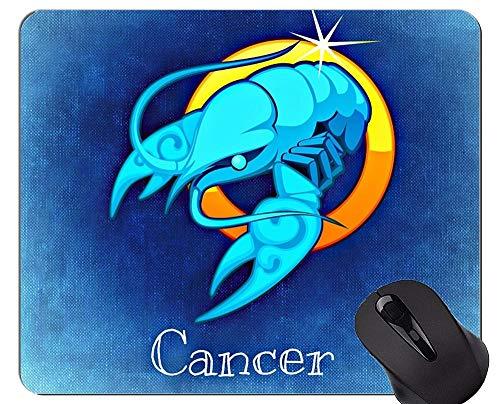 Anti-Rutsch-Mausunterlage, Krebs-Tierkreis-Konstellations-Astrologie-Symbol-Themen der Mausunterlage mit genähtem Rand