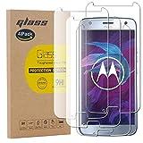 pinlu [4 Pack Pellicola Protettiva per Motorola Moto X4 Screen Protector Toccare Compatibile Pellicola Ultra Resistente in Vetro temperato