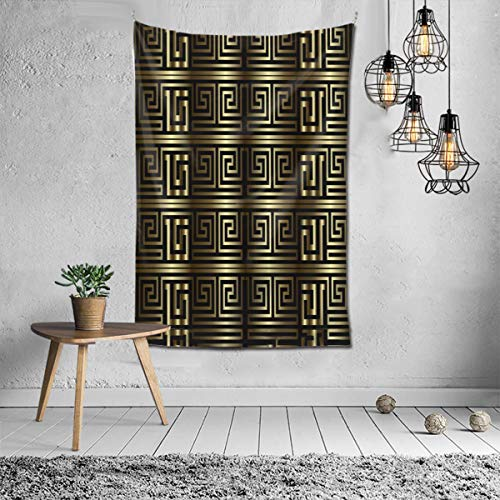 Wbydgoigo Greek Key Meanders Seamless Pattern Tapestry Wall Hanging (60x40inches) Wall Art Tapestry for Dorm Home Decor