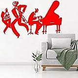 ASFGA Jazz Saxophone Gungju Lecteur de Musique Autocollant Art Vinyle Tambour Basse...