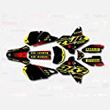 Bk Yellow Red Rise Racing Graphics Kit fits Suzuki Drz400 Drz 400 Drz400sm 400sm