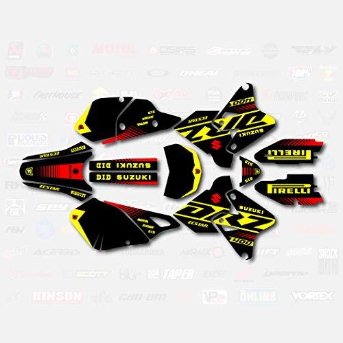 Bk Yellow Red Rise Racing Graphics Kit fits Suzuki Drz400 Drz 400 Drz400sm 400sm