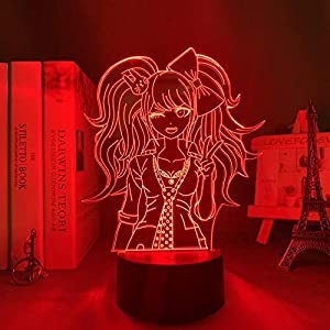 3D Night Light for Kids,Danganronpa Junko Enoshima Led Lamp for Room Decor Kids Child Danganronpa Acrylic Desk Lamp Junko Enoshima for Birthday/Xmas Gift