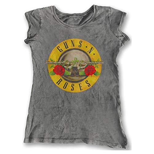 Guns N Roses - Camiseta - para Mujer Gris Gris 42