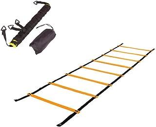 SOONHUA Escalera de Agilidad Paso de Salto Ajustable Cuerda Pelda/ños Al Aire Libre Equipo de Entrenamiento de Velocidad de Fitness para Ni/ños Adolescentes Entrenamiento de Ejercicio de F/útbol