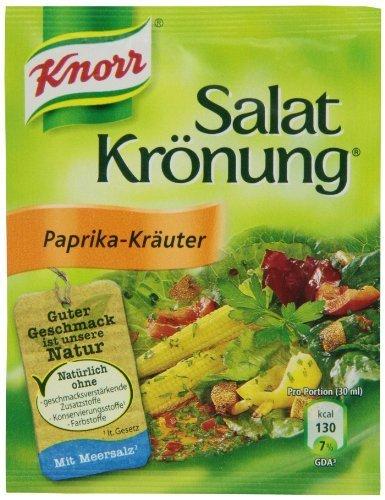 Knorr Salat Kronung Paprika-Kräuter/hierbas y ensalada con pimentón, Paquete de 5 Condimento para Alimentos