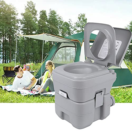 XinYun Camping Toilette 20L Mobile Sport Campingtoilette tragbar Reise Toilette Tragbare Camping WC Abnehmbar Toilette Toilet für Wohnmobil Wohnwagen Caravan