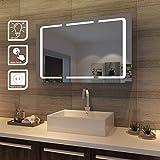 SONNI LED Spiegelschrank 3 türig 1050 x 650 x 130 mm Badezimmerspiegel wandschrank Badschrank mit...