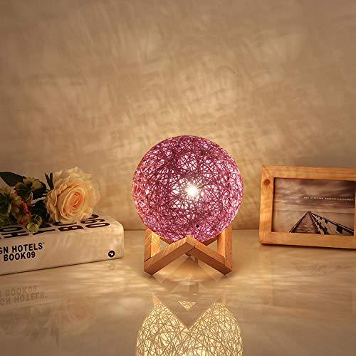 Bedlampje voor de slaapkamer, eenvoudig, creatief, moderne decoratie, cadeau, nachtlampje, landschap, takraw, cadeau, tafellamp