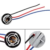 PartsSquare 1pair 1157 2057 2357 Replacement Plug Sockets Extended Wiring Harness Tail Brake Light