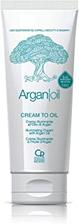 Cream To Oil - Argan Cream To Oil - Crema Illuminante all'Olio di Argan per Capelli Spenti - Olio per Capelli, Fomula Nutr...