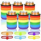 BELIOF 6 Piezas Enfriador de latas Latas con Aislamiento Sostenedor de la Bebida del...
