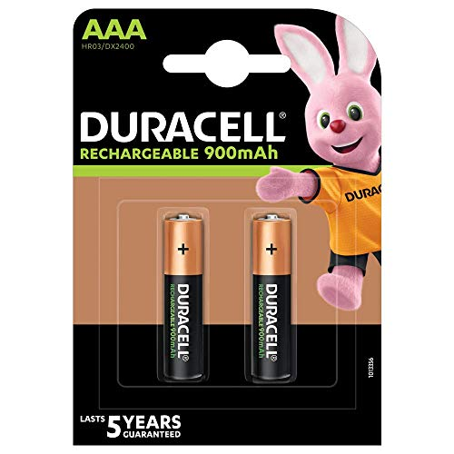 Duracell - Recharge Ultra - Piles Rechargeable AAA - 850 mAh - Pack de 2