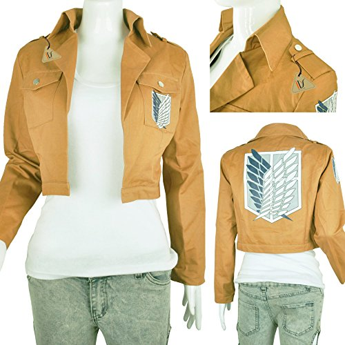 IDS Home Khaki Jacket Coat Cosplay Costumes Halloween Clothes, S