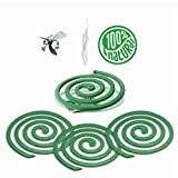 LOV HOME Citronella Coils - Outdoor Use - Each Coil Could Last for 5-7 Hours - 2 Pack Contains 16 coils & 2 Coil Stands