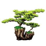 NYKK Bonsai Artificial Árbol de Pino Artificial Bonsai Árbol Artificial de la plantación de árbol Artificial Interior, decoración, 26.4'× 18.5' × 12.6' Plantas Falsas Plantas Artifi