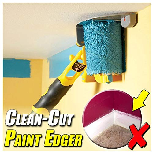 Clean-Cut Paint Edger, Edge Paint Roller Brush, Transform Your Room in Just Minutes, Wall Printing Brush Tool for Wall Ceiling Doors,Windows and Chair Rail, Paint Runner Kit for Home Office Room (1PC)