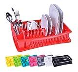 Égouttoir à vaisselle - bac à égouttement pour vaisselle propre - avec bac de récupération - couleur:...