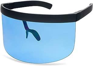 SunglassUP Oversize Full Coverage Transparent Colored UV400 Eye Protection Face Sun Shield Fashion Sunglasses