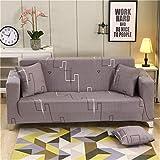 WXQY Funda de sofá elástica para salón, Funda de sofá elástica, Funda de sofá Horizontal, Funda de sillón de Esquina en Forma de L, Funda de sofá A15 de 3 plazas