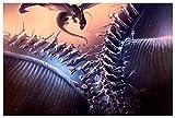 GAGALAM Puzzle 1500 Piezas Adulto Cielo Volando Dragones Y Guerreros