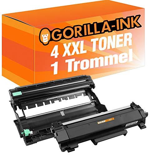 Gorilla-Ink 1x Toner & 1x trommel compatibel met Brother TN-2420 & DR-2400 (11) 4x Toner XXL & 1x Trommel