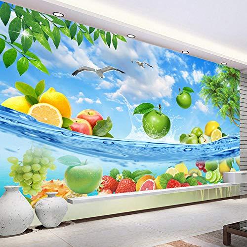 HD fruit zeewater verse zomer foto behang 3D muur muurschildering, fruit winkel restaurant keuken achtergrond muur Decor 208 cm (B) x 146 cm (H)
