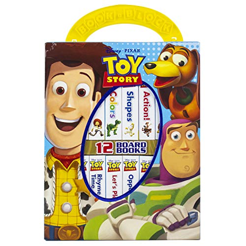 Disney Toy Story Woody, Buzz Lightyear, and More! - My First Library Board Book Block 12-Book Set - PI Kids