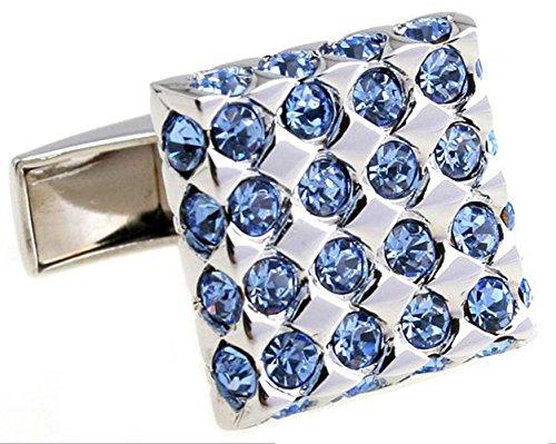 GuDeKe Boutons de Manchette en Diamants français Or Argent Bronze (Argent)