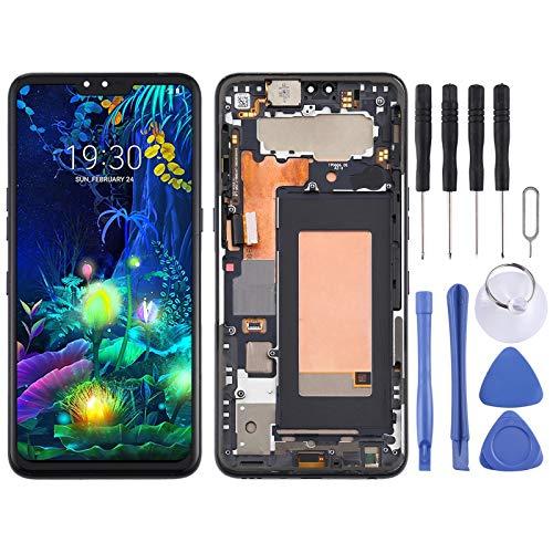 Accesorios de reparación pantalla LCD y digitalizador Asamblea completa con el marco for LG V50 Thinq 5G LM-V500-LM LM-V500N V500EM LM-V500XM LM-V450PM LM-V450 Piezas de repuesto ( Color : Black )