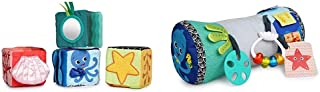 Sit and See Set Explore & Discover SoftBlocksToys & Rhythm of The Reef Prop Pillow, Ages 3 Months +