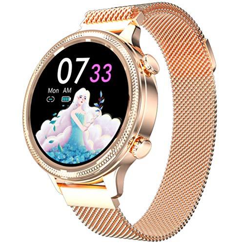 Smartwatch M3, Reloj Inteligente Deportivo para Mujer con Función De Monitoreo De ECG PPG HRV para Todo Clima para Mejorar El Temperamento,Oro