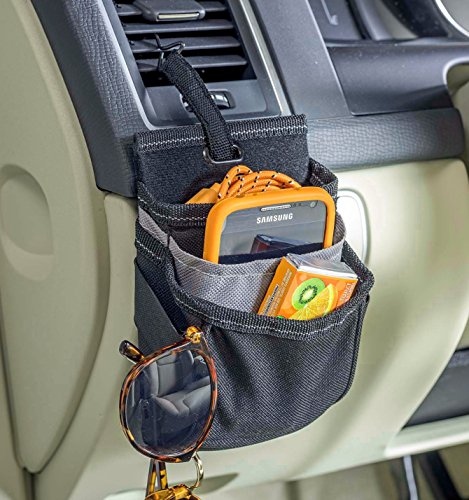 High Road DriverPockets Car Air Vent Phone Holder Organizer with Charging Port