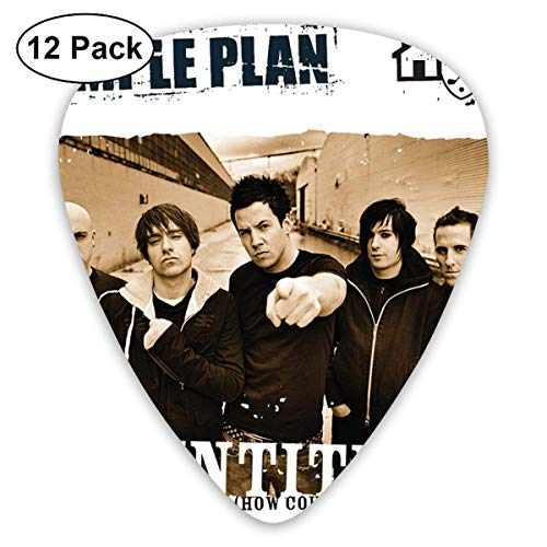 Plektrum Simple Plan Untitled Guitar Picks 12er-Pack für E-Gitarre, Akustikgitarre, Mandoline und Gitarrenbass
